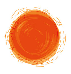 Orange watercolor art paint vector