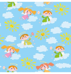 pattern angels and suns vector image