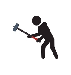 Pictogram hammer crossfit fitness gym sport icon vector
