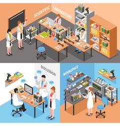 Science lab conceptual composition vector