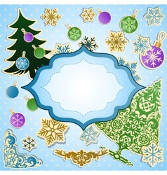 scrapbooking set for Christmas vector image