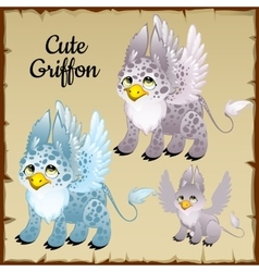 Set of three griffons vector