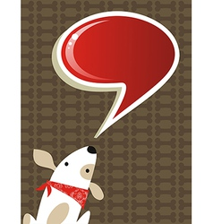 Social dog with chat bubble vector