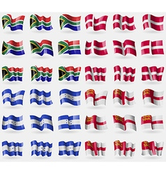South africa denmark honduras sark set of 36 flags vector