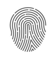symbol fingerprint vector image vector image