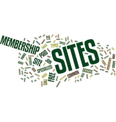 The different types of membership sites text vector