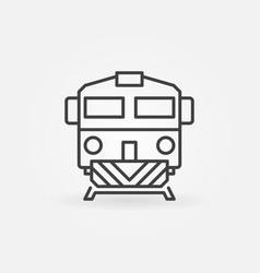 train linear icon vector image