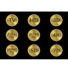 Tv icon set vector