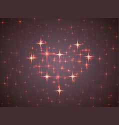 valentine in the form of ultraviolet night sky vector image vector image