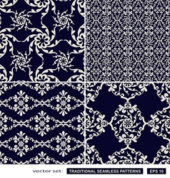 Vintage blue backgrounds vector image vector image