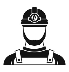 Male miner icon simple style vector