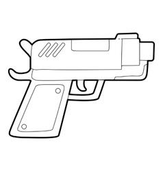 Gun icon outline style vector image