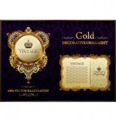 gold vintage decorative ornament vector image