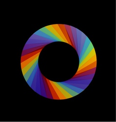 Spectrum of visible light- color wheel design vector