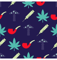 Seamless background with symbols of drug addiction vector