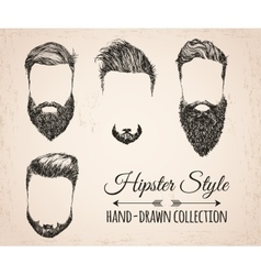 Hipster fashion vintage elements hand-drawn vector