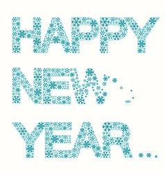 Happy New Year Title - Snowflakes Slogan Isolated vector image
