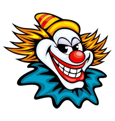 Fun circus clown in cartoon style vector