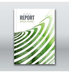 Cover report business colorful green stripes vector