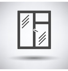 Icon of closed window frame vector image