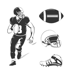 Elements for american football labels vector