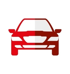 Red car icon transportation machine design vector