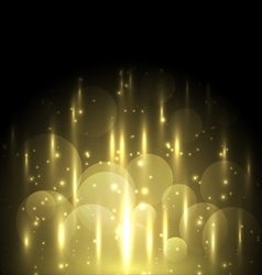 Abstract yellow light and bokeh glowing background vector image vector image