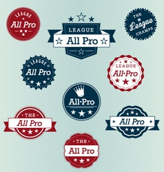All Pro Labels vector image