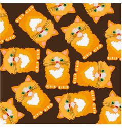beautiful redhead cat vector image vector image
