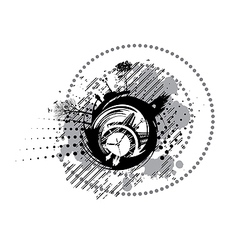 black and white clock vector image vector image