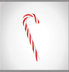 candy cane or lollipop stick isolated on white vector image