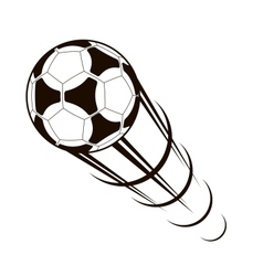 Championship soccer ball zooming through the air vector
