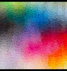 Colorful crystallization pattern background vector