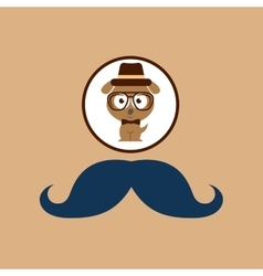 Doggy hipster concept mustache style vector