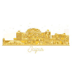 jaipur india city skyline golden silhouette vector image vector image