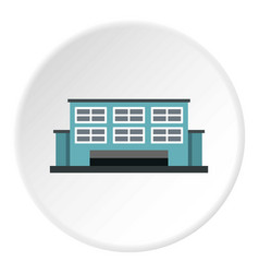 Manufacturing factory building icon circle vector