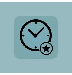 Pale blue best time icon vector