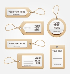 Paper price tag vector