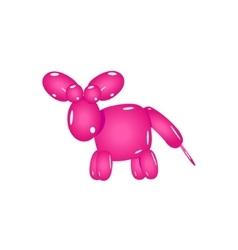 Pink balloon donkey vector