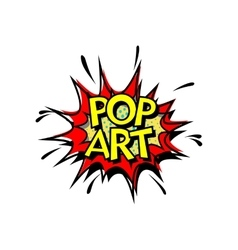 Pop art comic book style vector