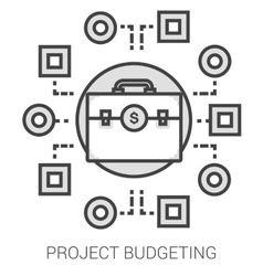 Project budgeting line infographic vector