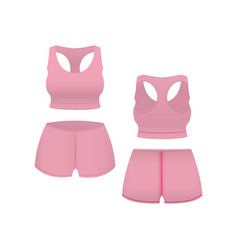 realistic template blank pink shorts and top vector image