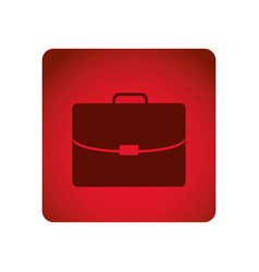 Red square frame briefcase executive icon vector