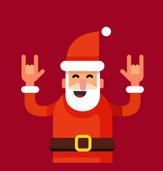 rock n roll santa claus vector image