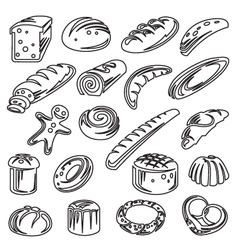 set of breads vector image vector image
