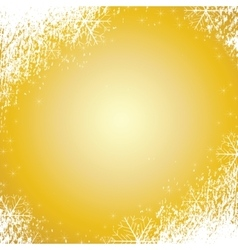Snowflakes gold background texture vector