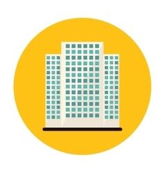 Symbol buildings and city scene line sticker vector