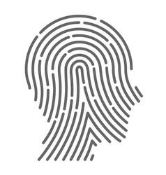 symbol fingerprint head vector image vector image