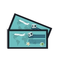 Ticket airplane boarding pass vector