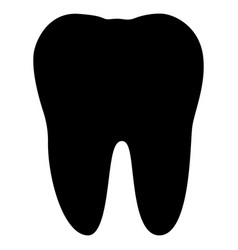 tooth the black color icon vector image vector image